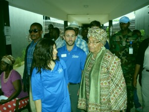 Cori and President Ellen Johnson Sirleaf